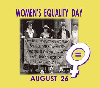 Happy Women's Equality Day 08/26/2016