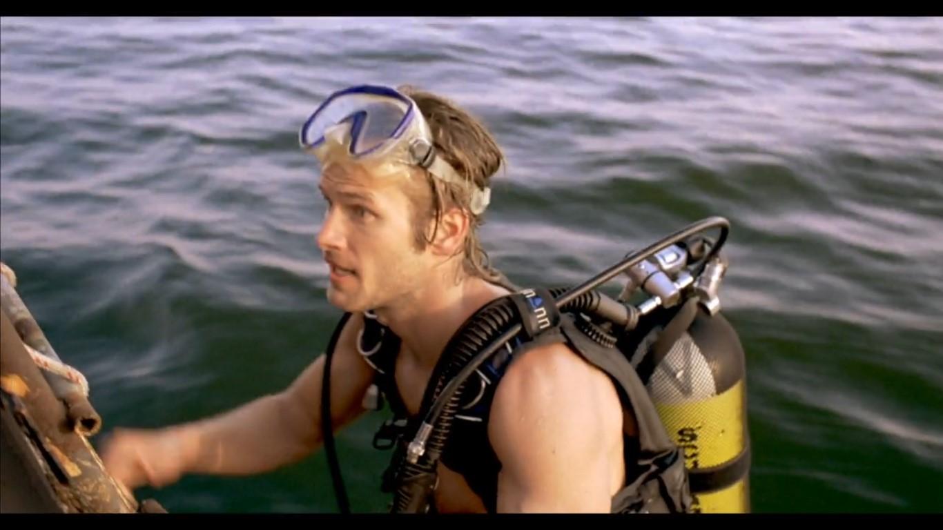 Johann with scuba tank